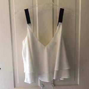 Zara cropped flowwy top